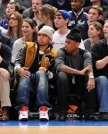 Chris Brown and Fabolous Courtside
