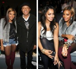 fashion week lalal and angela simmons and russell simmons